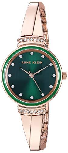 Anne Klein Women's AK/3196 Swarovski Crystal Accented Bangle Watch