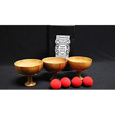 MJM India Cups and Balls by Zanders Magical Apparatus - Trick: Toys & Games