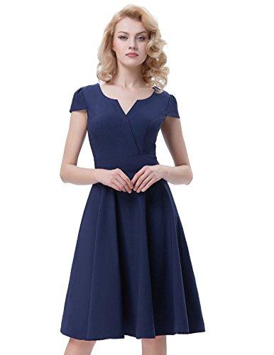 Belle Poque - Vestito - Sera - Donna Navy Blue