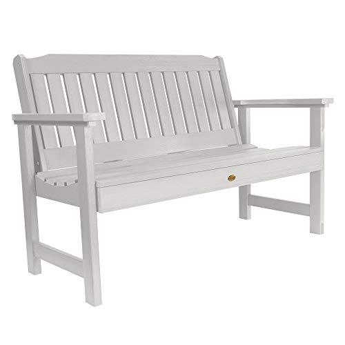 (Highwood AD-BENW2-WHE Lehigh Garden Bench, 4 Feet, White)