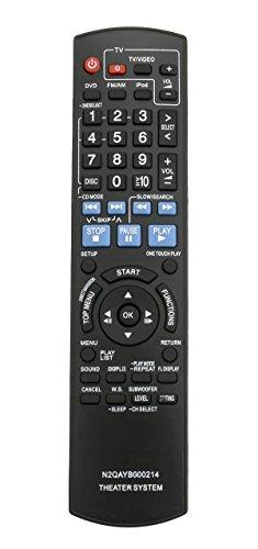 New N2QAYB000214 Replace Remote fit for Panasonic SC-PT760 SC-PT954 SAPT1054 SAPT760 SAPT954 SAPT956 SCPT1054 SC-PT956 SC-PT960 DVD Home Theater Sound System SA-PT1054 SA-PT760 SA-PT954 SA-PT956