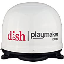 Winegard PL-8000 White DISH Playmaker (Dual HD RV Satellite Antenna Dual Receiver Capability, Optional RV Roof Mount),1 Pack