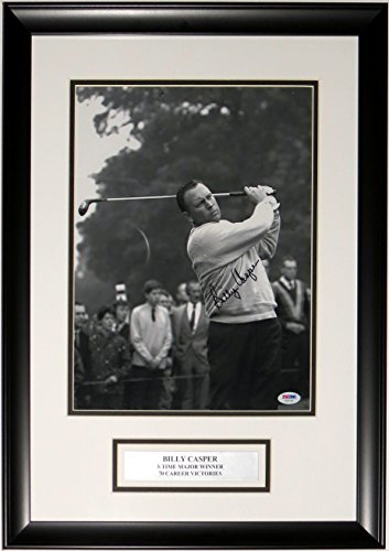 Billy Casper Framed - Billy Casper Signed 11x14 Photo - PSA DNA COA Authenticated - Professionally Framed & Plate