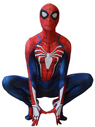 (Insomniac PS4 Spiderman Costume PS4 Spider-Man Suit for Kids and Adults Cosplay Insomniac PS4 Spider-Man Movie Best Halloween Costume)