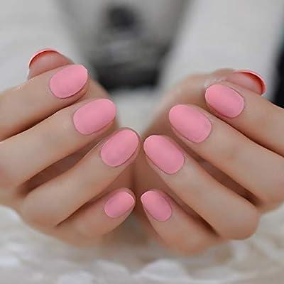 EchiQ Shoft - Uñas postizas de uñas acrílicas redondas y cortas ...
