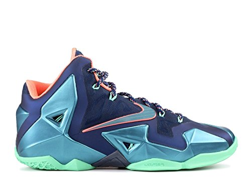 Nike Lebron Xi Miami Vs Akron Scarpe Da Uomo Coraggioso Blu / Minerale Verde Acqua-atomico Rosa 616175-400
