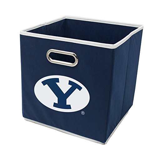 (Franklin Sports Brigham Young University Cougars Collapsible Storage Bin - Made to Fit Storage Bin Shelf Organizers - 10.5