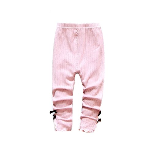 SexyBaby Kids Toddler Girl Cotton Soft Lotus Leaf Pure Color Legging Pink 70