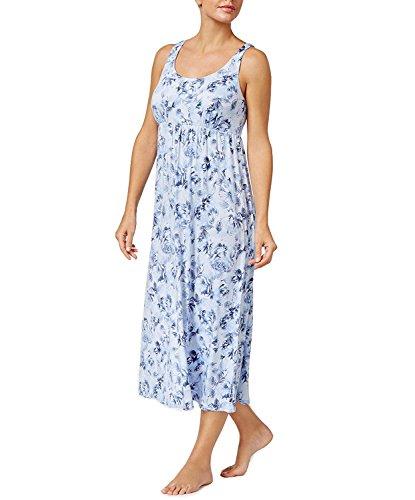 Alfani Womens Sleeveless Scoop Neck Nightgown, Ombre Peony, (Alfani Sleeveless)
