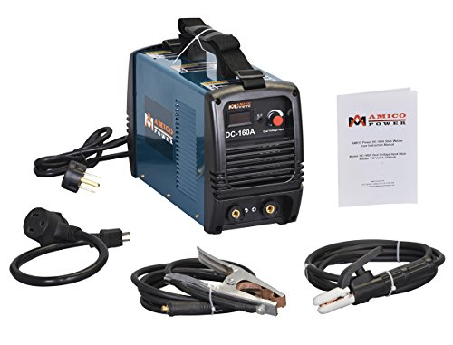 Amico S160AM, 160 Amp 110/230V Dual Voltage DC Welder IGBT Inverter Welding Soldering Machine, S160AM