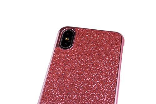 Spada 4052335032801 Glitter Hardcover für Apple iPhone X rosa