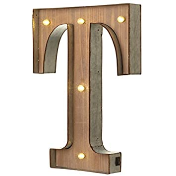 Vintage Illuminated Carnival Lights   A Z   Choice Of Alphabet Letters ( Letter T) By