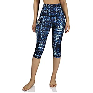 ODODOS Women's High Waisted Pattern Pocket Full-Length Yoga Leggings