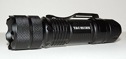 TAC INK 110 ARC Tactical LED Flashlight, 300 Lumens, Zoomable, 3 Modes, Water Resistant, Impact Resistant, Certified CREE LEDs (Black) For Sale