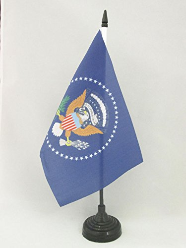 BANDIERA DA TAVOLO STATI UNITI PRESIDENTE 21x14cm - PICCOLA BANDIERINA AMERICANA – USA 14 x 21 cm - AZ FLAG