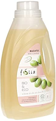 FOLIA - Liquid Detergent for Laundry - Organic - Removes Stains and Bad Odors - Hand Wash and Washing Machine - Lavender Scent - Suitable for Delicate Skin, and with a Low Environmental Impact - 1 L