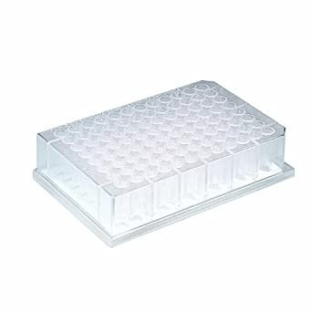 Whatman 7700-1806 Polystyrene 96 Well Unifilter Filtration Microplate, With Short Drip Director, hydrophillic PVDF (Pack of 25)