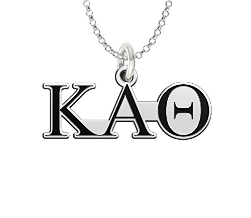 (Kappa Alpha Theta Sterling Silver Antique Letters Charm)