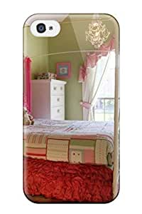 Cute Appearance Cover/tpu UzhVhAS7208HLpWM Lime Green And Pink Shabby Chic Bedroom Case For Iphone 4/4s