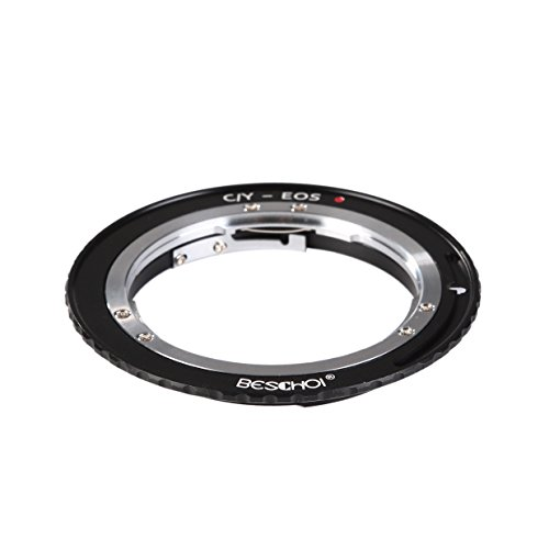 Beschoi Lens Mount Adapter for Contax Yashica C/Y Lens to Canon EOS (EF, EF-S) Mount SLR Camera Body, Such as Canon 1D, 1DS, Mark II, III, IV, 10D, 20D, 30D, 40D, 750D ()