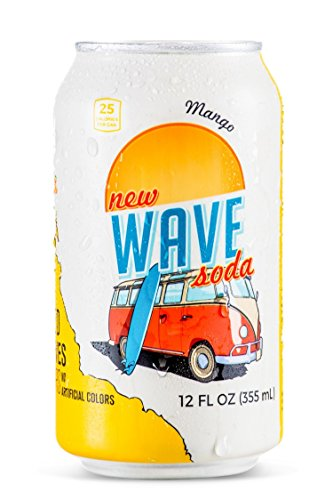 Wave Soda Sparkling Juice, Mango, 12 Ounce Cans (Pack of (Sugar Diet Soda)