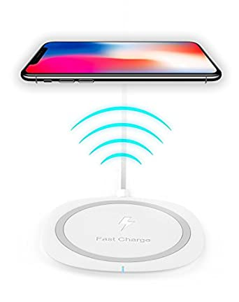 los angeles 40b31 4042e Apple iPhone X / 10 / 8 / 8 Plus Wireless Quick Charger Fast Charge 10W for  iPhone X, iPhone 8, iPhone 8 Plus,Samsung Note 8, S6 Edge +, S7, S7 Edge,  ...