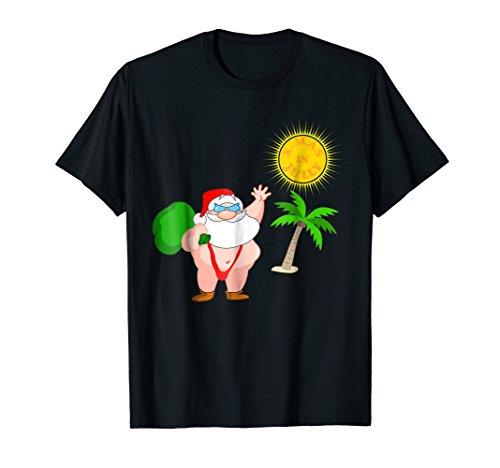Christmas In July Santa Hawaiian Shirt Santa Summer Outfit -