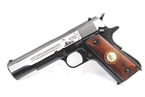 BELL M1911A1 第二次世界大戦 終戦記念刻印モデル ガバメント ブローバック ガスガン シルバー メタルスライド標準装備 No.723L B07SSY3PZ2