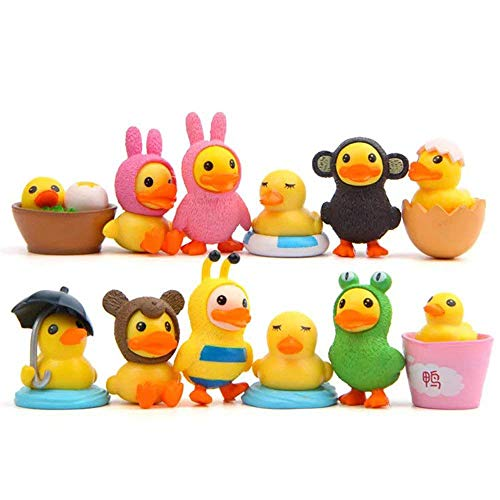 LW 12 pcs Little Yellow Duck Toys, Mini