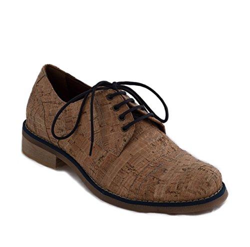 nae Diana Cork Blue - Zapatos de corcho mujer 100% veganos y ecológicos