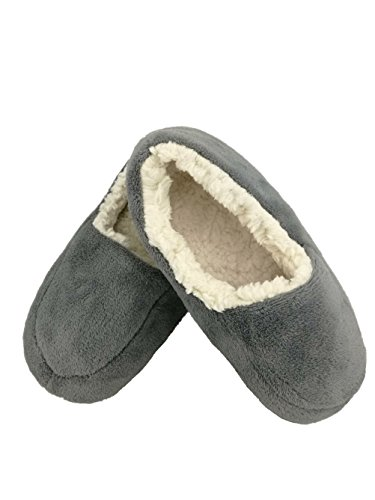 Mens Autunno Inverno Coperta Antiscivolo Scarpe Calze Pantofole Hgtcs680 Grigio