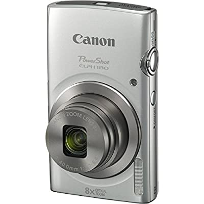 Canon PowerShot ELPH 180 20MP 8X Zoom Digital Camera + Card + Reader + Case + Accessory Bundle