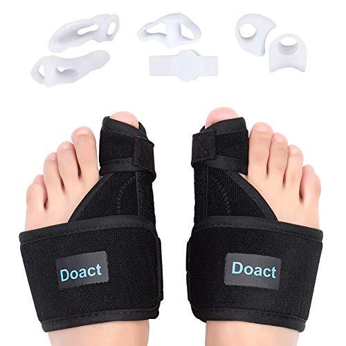 cc9a1d2f59d0 Bunion Corrector Splint Night and Day Kit, Big Toe Straightener Separators  for Hallux Valgus, Upgrade Turf Toe Brace Wrap Plus, Soft Gel Spacer Pain  ...