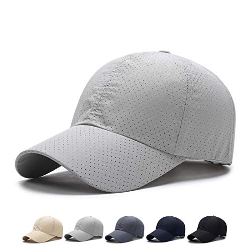 faad5f39bcc49d Ohrwurm Men's Baseball Cap with Breathable Mesh for Baseball Running Golf  Sports, LightGrey