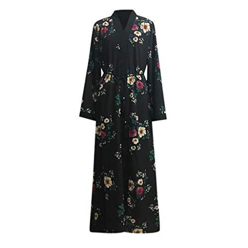 Musulmano Saudita Lunga Stampato Casuale Floreale Semplice Donna Estate Abito Multicolore Manica Vestito Etnica Dress polpqed Lungo Islamico uOPXkTwZi