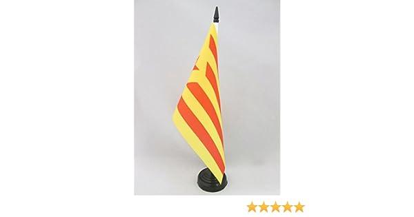 AZ FLAG Bandera de Mesa de CATALUÑA ESTELADA VERMILLA 21x14cm ...