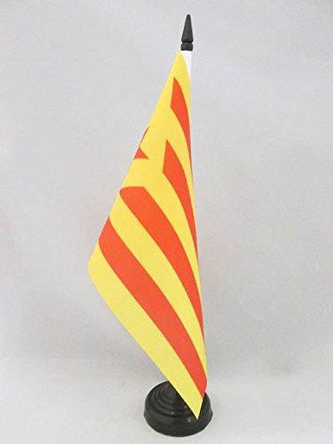 AZ FLAG Bandiera da Tavolo Catalogna ESTELADA VERMELLA 21x14cm - Piccola BANDIERINA CATALANA INDEPENDENTISTA - CATALUÑA 14 x 21 cm