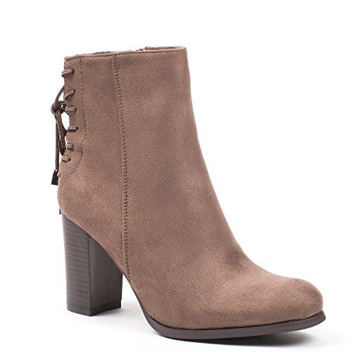 Ideal Shoes, Damen Stiefel & Stiefeletten Beige