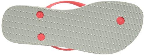 43 Para Blanco Logo Chanclas 44 41 Mujer Eu 42 coral Brazilian Slim Havaianas Cq0tHw