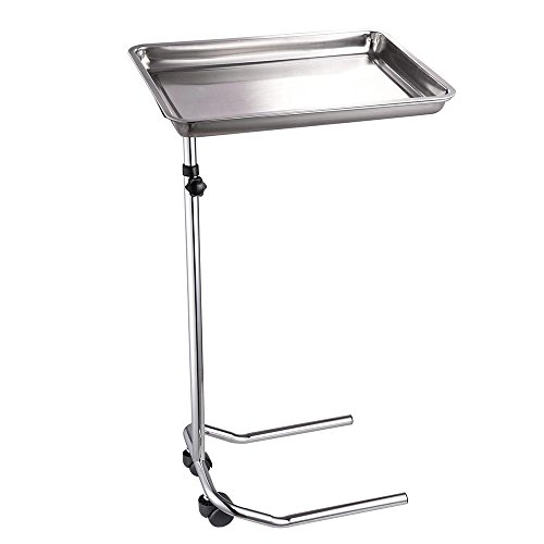 Mageshi Single-Post Stand Tray Height Adjustable 32 3/5″ – 55 1/2″ with Casters Removable Tray Medical Salon Spa Equipment US Delivery