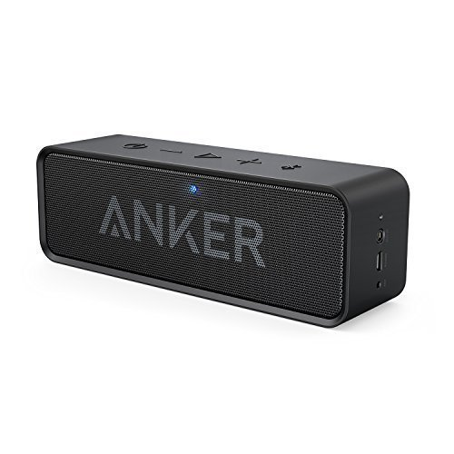 Anker SoundCore Bluetooth Speaker with 24-Hour Playtime, 66-Foot Bluetooth Range & Built-in Mic, Dual-Driver Portable Wireless Speaker with Low Harmonic Distortion and Superior Sound - (Wireless Stereo)