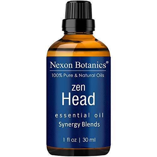 Nexon Botanics Zen Head Essential Oil Blend 30ml - Natural Headache Relief and Migraine Relief - Best Headache Essential Oil
