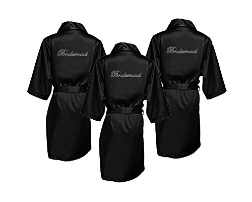 Bridesmaid Robes with Rhinestones
