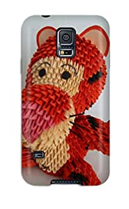 Slim Fit Tpu Protector Shock Absorbent Bumper D Origami Case For Galaxy S5