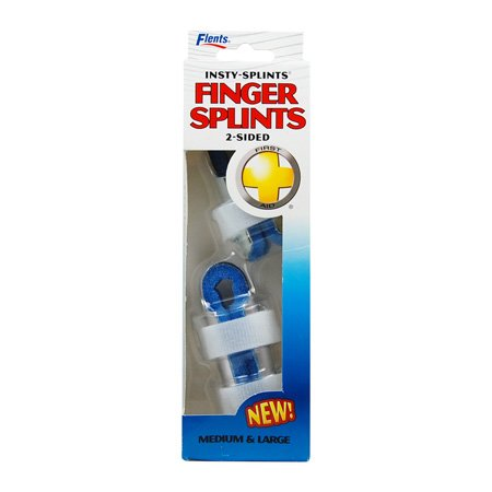 Flents Two Sided Finger Splint - Insty-Splints Finger Splints 2 Sided - 1 Medium and 1 Large