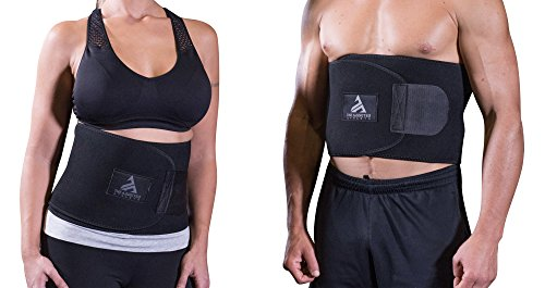 The Addicted Athlete Amazing Abdominal Belt - Waist Trainer/Sauna Belt for Men & Women: Improves Back Support | Strengthen Core Muscles | Burns Belly Fat | Weight Loss -for Sports, Home, Office, Gym