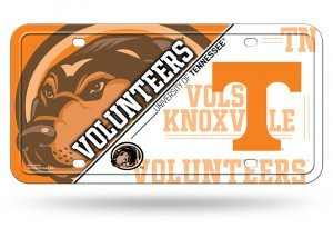 (NCAA Tennessee Volunteers Metal License Plate Tag)