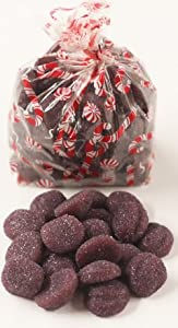 Scott's Cakes Sugar Plums in a 1 Pound Candy Cane Bag