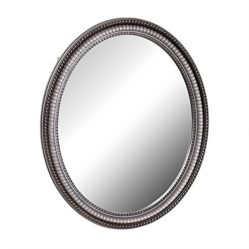 Zenith PMV2532BB, Oval Mirror Medicine Cabinet, Antique Pewter