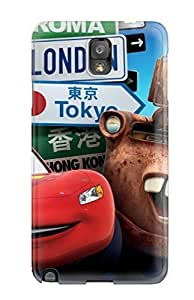 CaseyKBrown Scratch-free Phone Case Galaxy Note 3- Retail Packaging - Cars 2 London Tokyo
